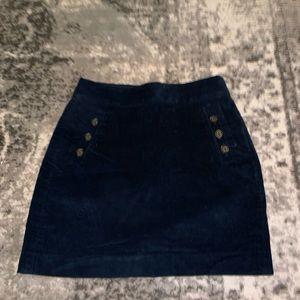 Banana republic corduroy navy skirt size 4